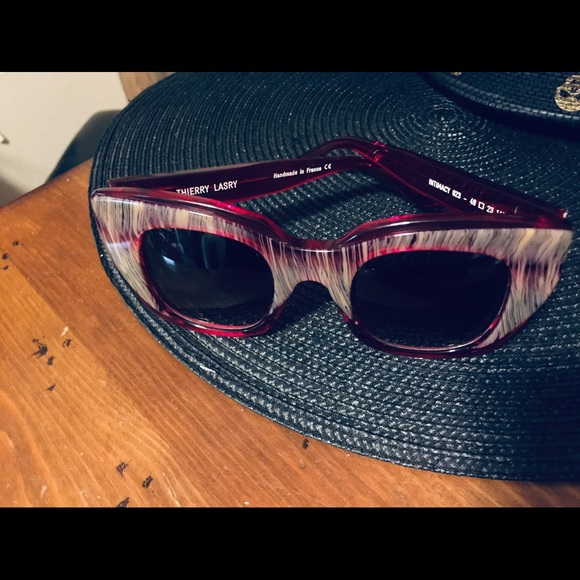 d695263a7c Thierry Lasry Intimacy Cat Eye Sunglasses Red. M 5c492212d6dc52aee36d8107